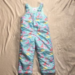 The Children's Place girls 5T dinosaur snowsuit